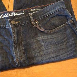 EDDIE BAUER Boyfriend Crop Blue Jeans Size 16